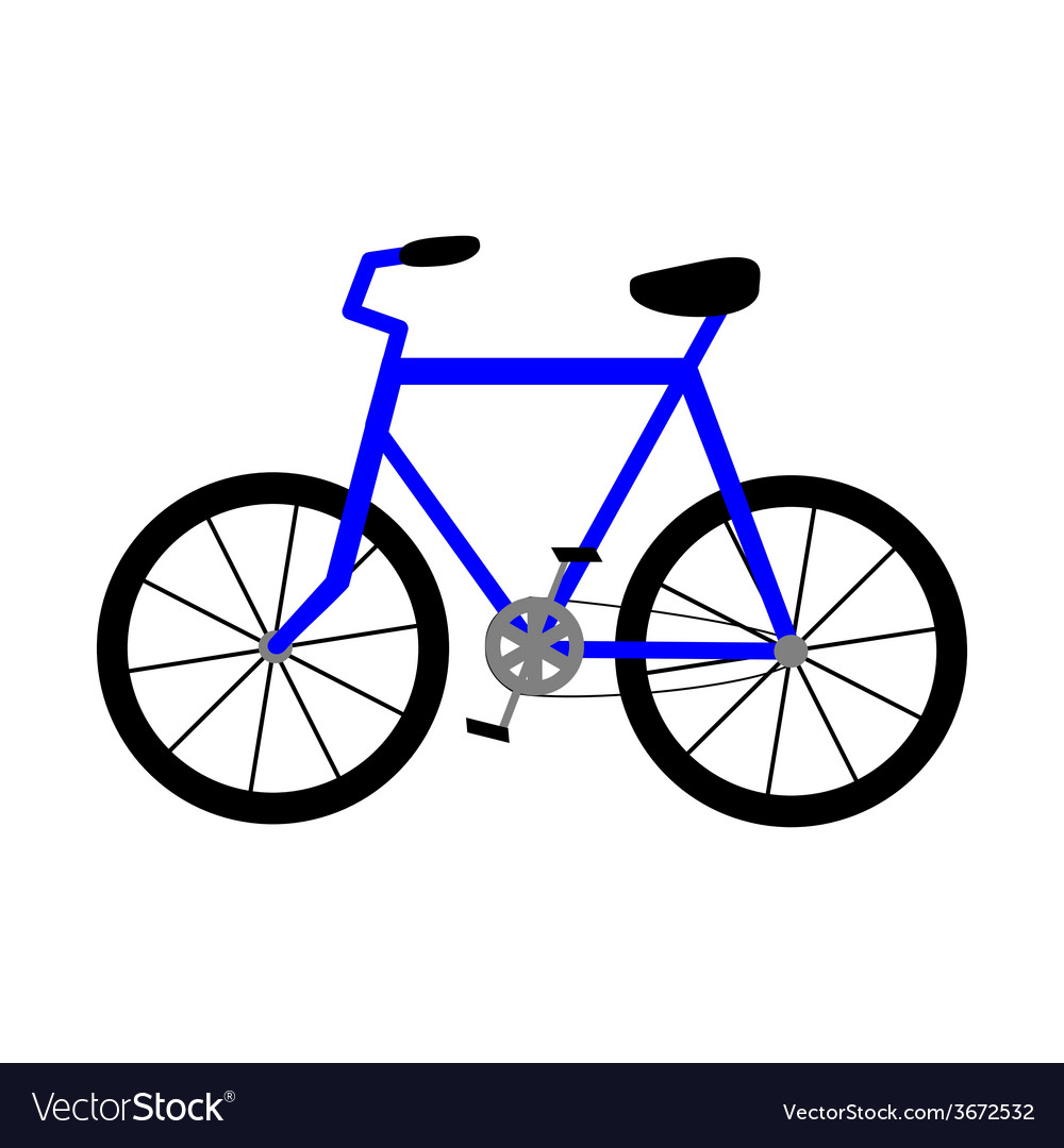 Bicycle icon isolated on white background vector | Price: 1 Credit (USD $1)
