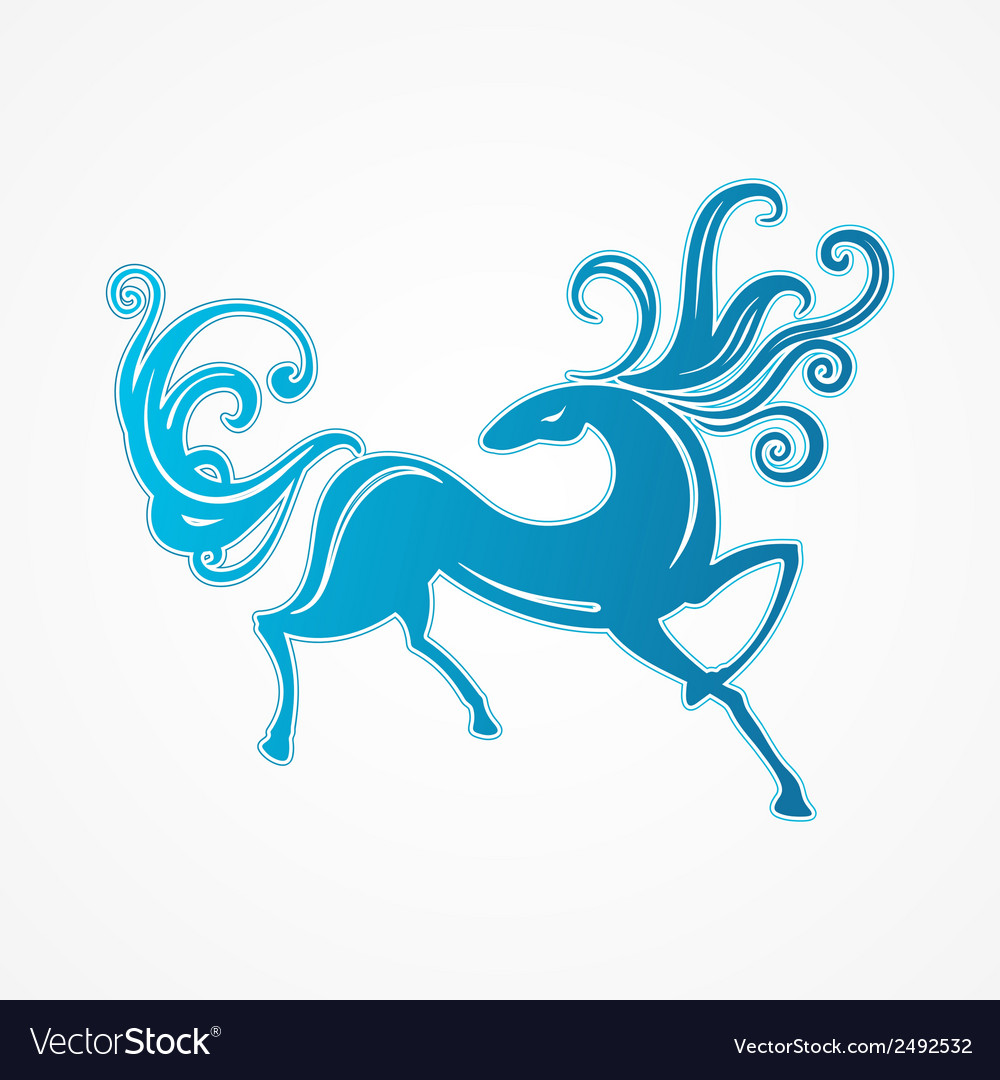 Blue horse vector | Price: 1 Credit (USD $1)