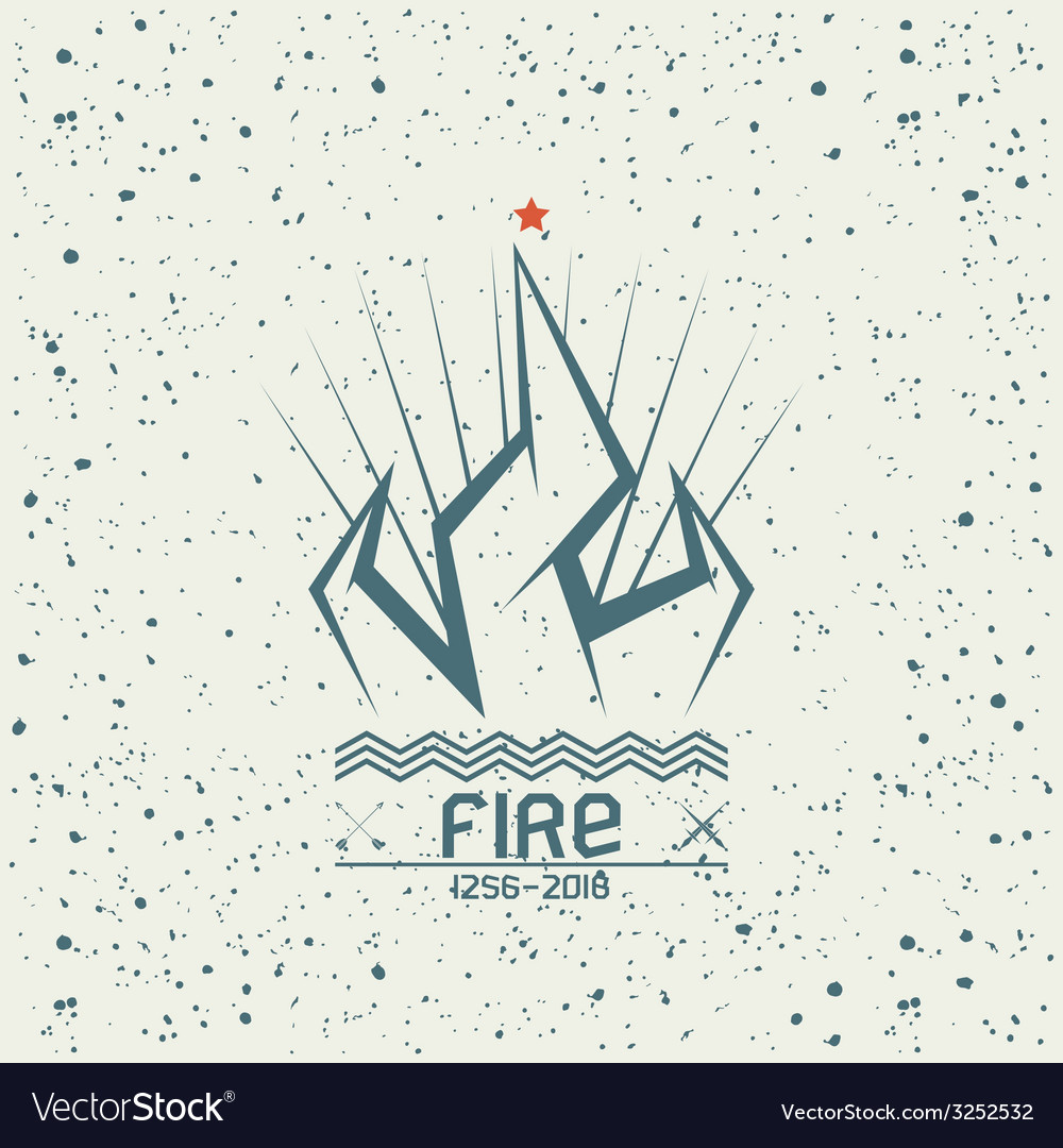 Campfire emblem vector | Price: 1 Credit (USD $1)