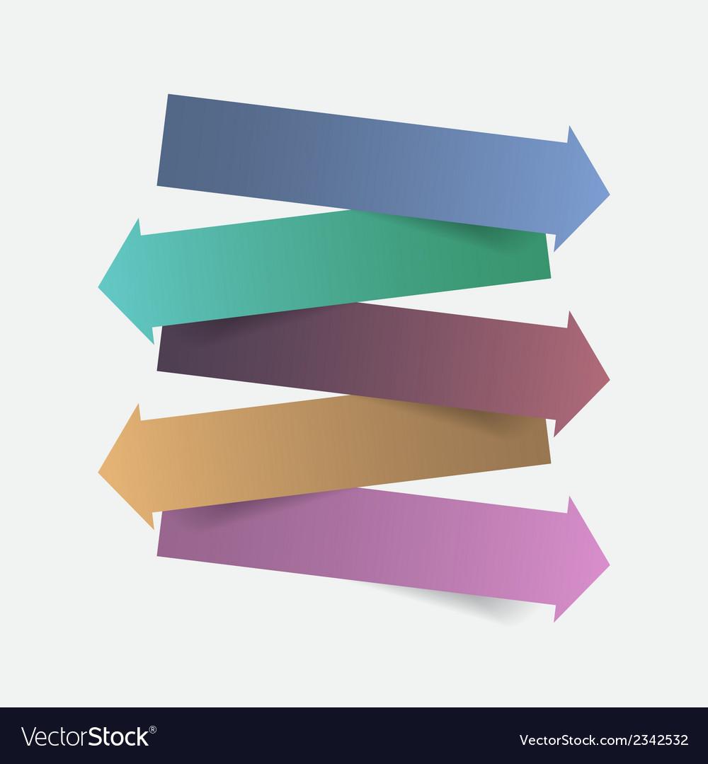 Color paper arrow infographics template design vector | Price: 1 Credit (USD $1)