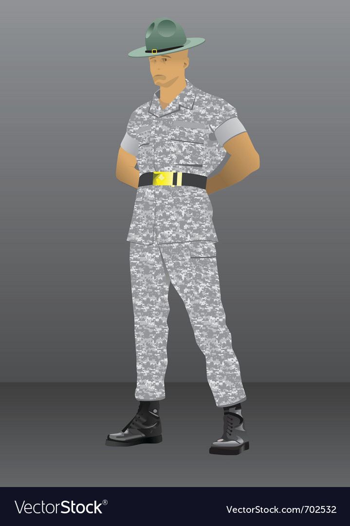 Drill instructor vector | Price: 1 Credit (USD $1)