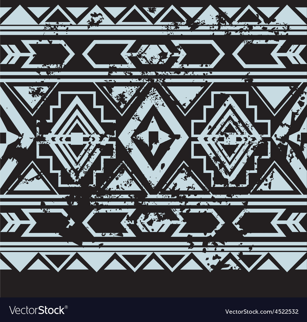 Ethnic seamless pattern with american vector
