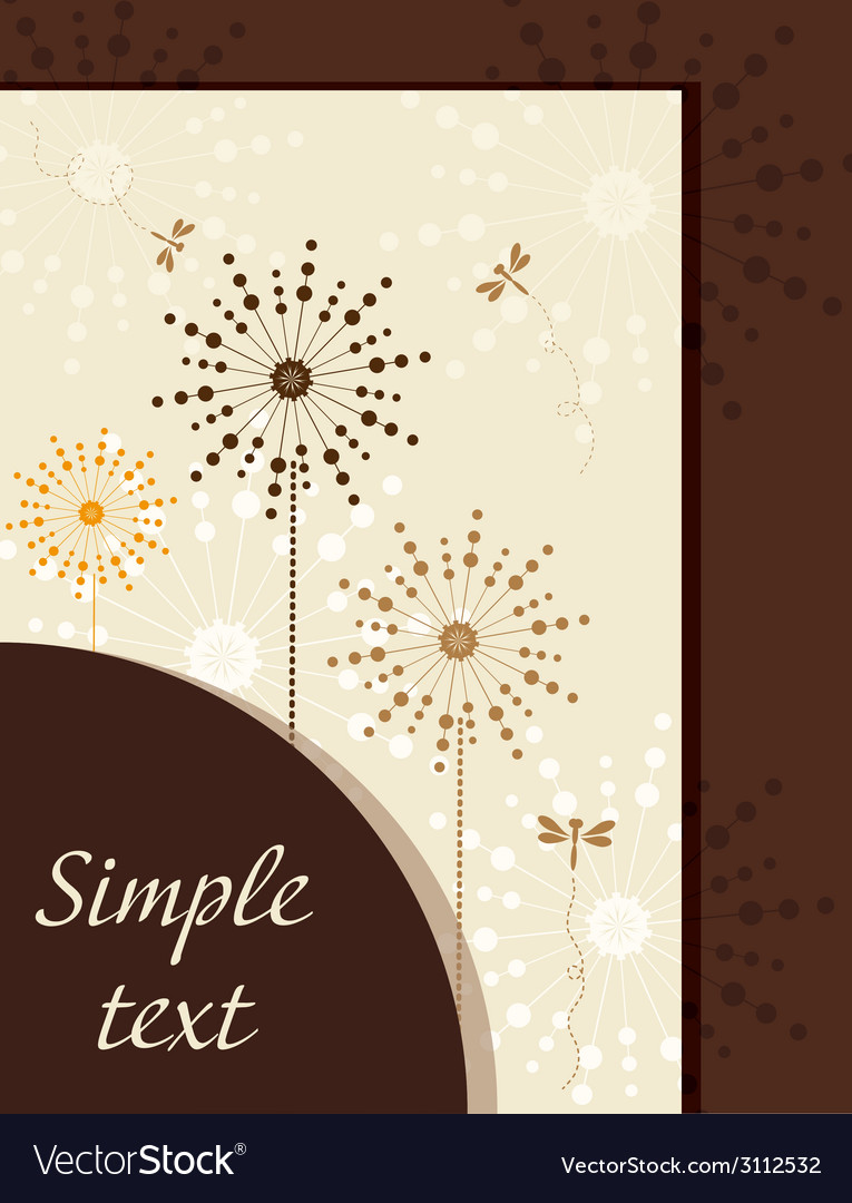 Flower booklet with dandelions vector | Price: 1 Credit (USD $1)