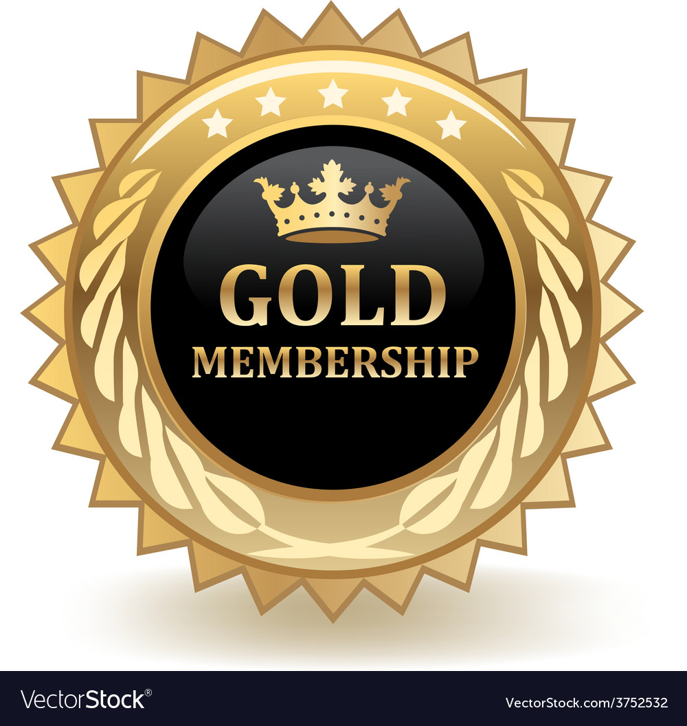 Gold membership badge vector | Price: 1 Credit (USD $1)