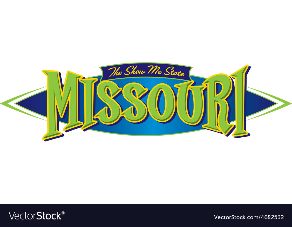 Missouri the show me state vector | Price: 1 Credit (USD $1)