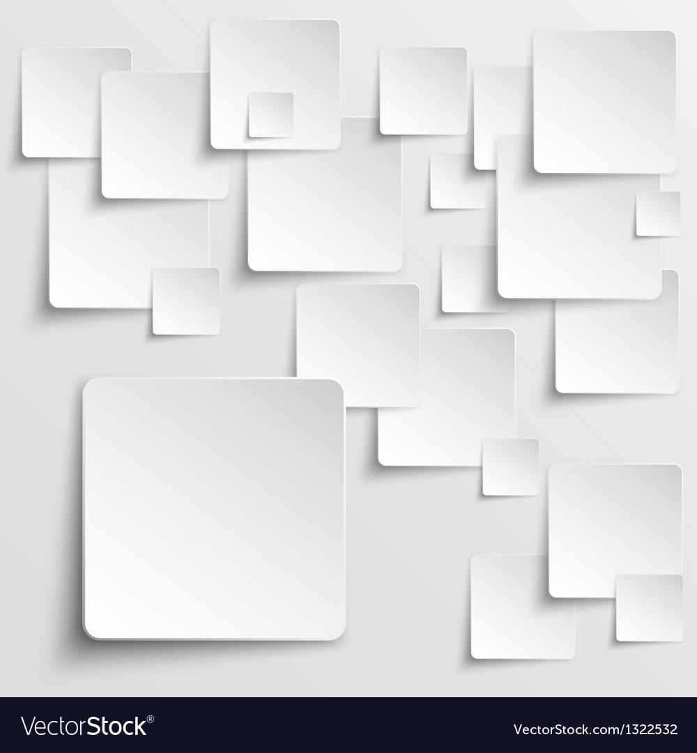 Paper squares abstract background vector | Price: 1 Credit (USD $1)