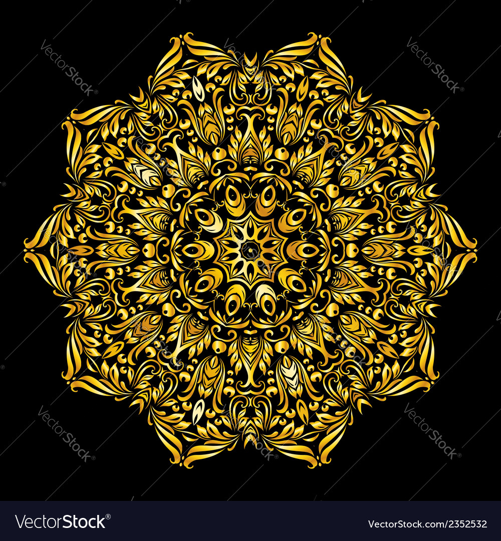 Pattern gold vector | Price: 1 Credit (USD $1)