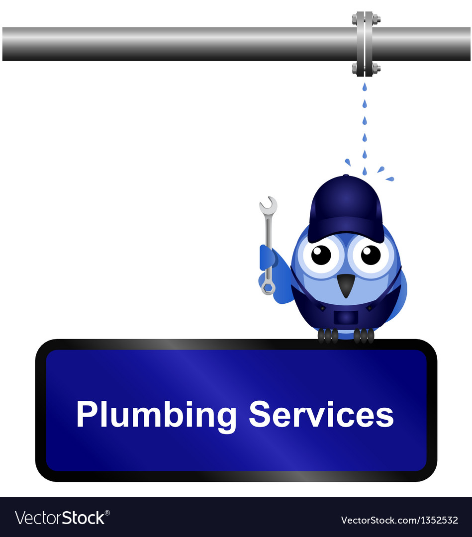 Plumbing services sign vector | Price: 1 Credit (USD $1)