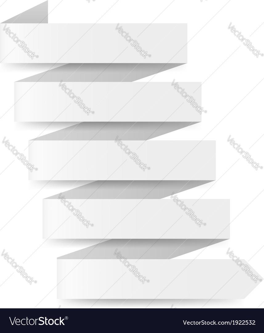 White paper arrow vector | Price: 1 Credit (USD $1)