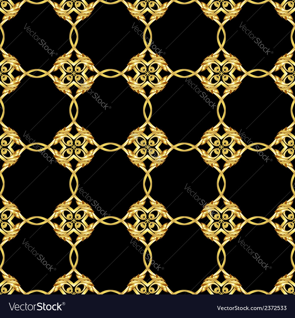 Asian golden pattern on black vector | Price: 1 Credit (USD $1)