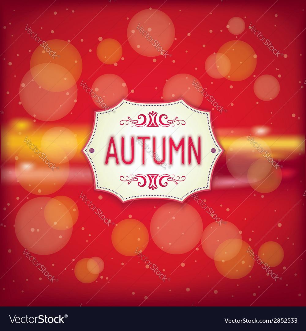 Autumn retro label vector | Price: 1 Credit (USD $1)