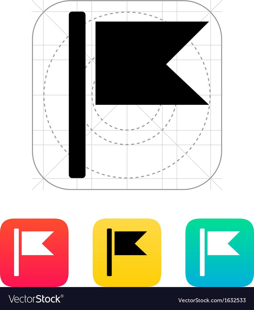 Burgee flag icon vector | Price: 1 Credit (USD $1)