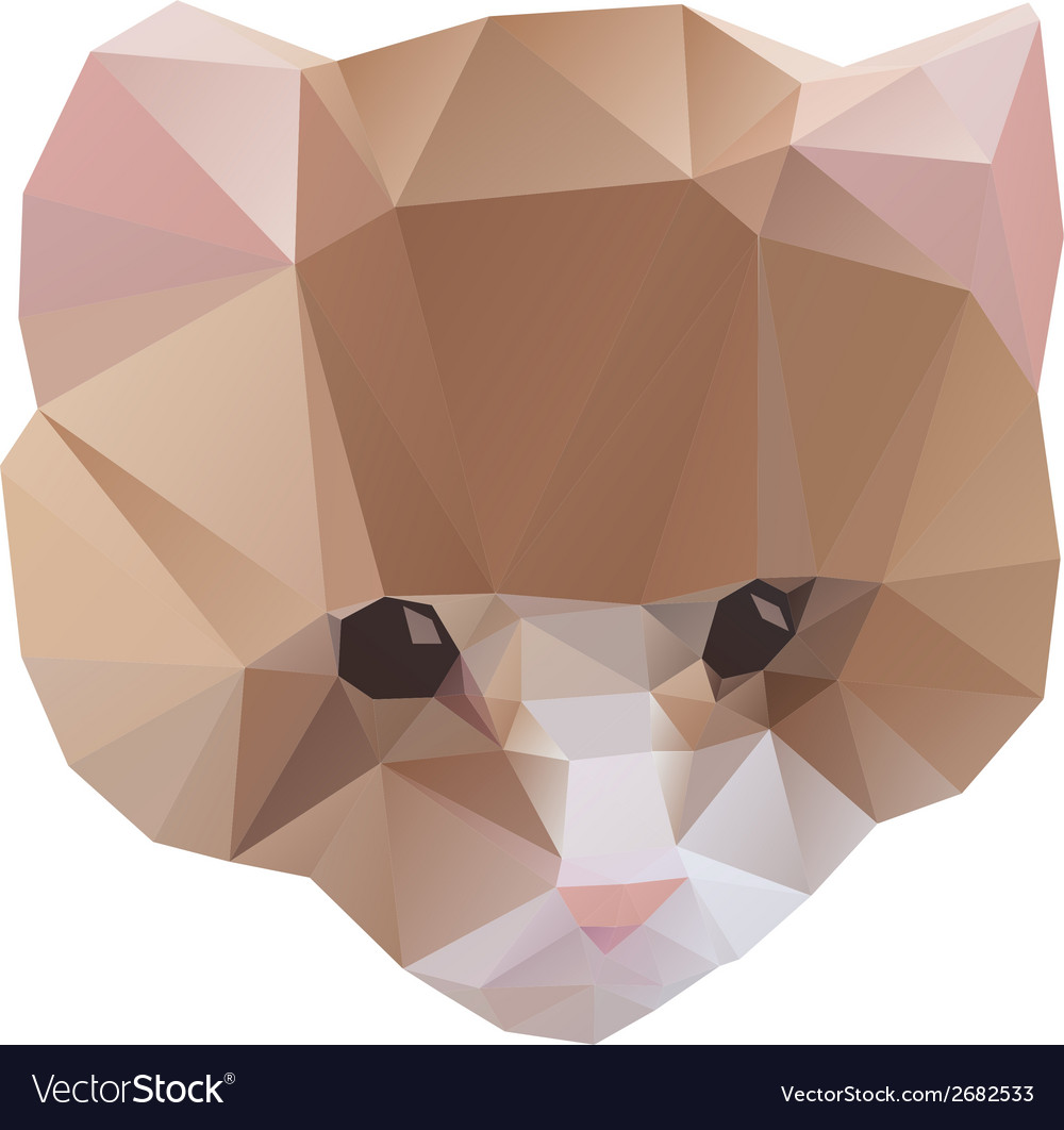 Cat from a geometrical vector | Price: 1 Credit (USD $1)