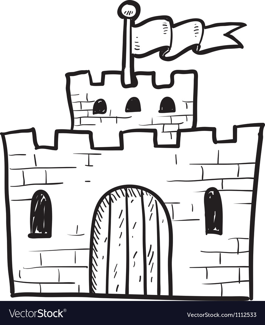 Doodle castle vector | Price: 1 Credit (USD $1)