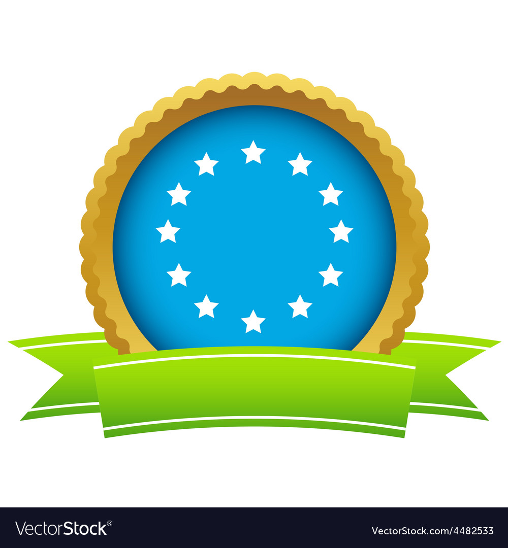 Gold european union logo vector | Price: 1 Credit (USD $1)