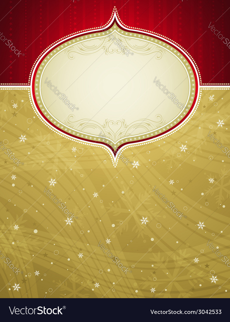 Golden christmas background with snowflakes vector | Price: 1 Credit (USD $1)