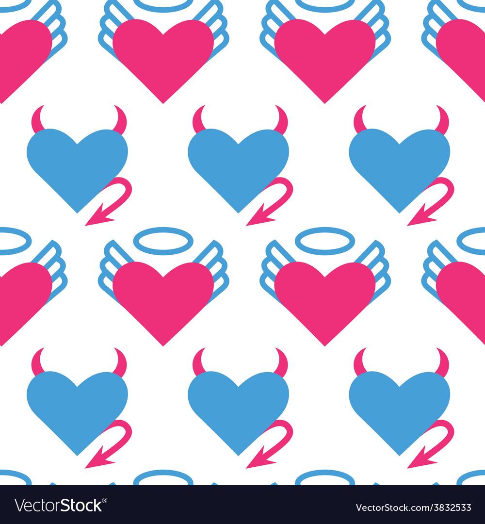 Heart seamless 1 vector