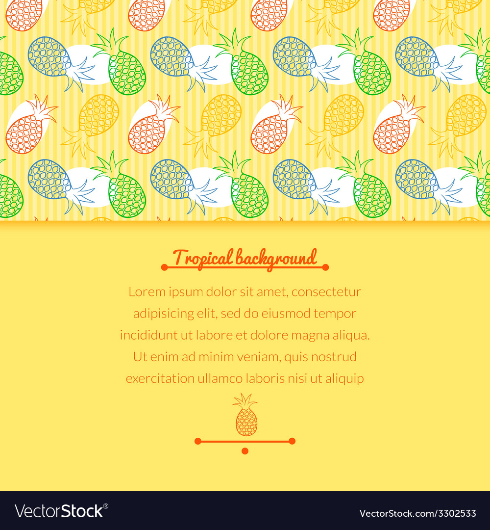 Pineapple background vector | Price: 1 Credit (USD $1)