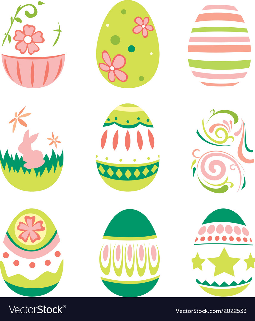Simple style easter eggs for happy easter vector   Price: 1 Credit (USD $1)