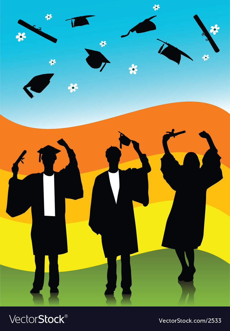 Spring graduates vector | Price: 1 Credit (USD $1)