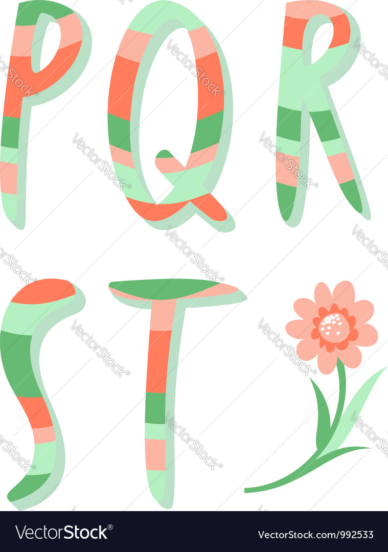 Striped letters vector   Price: 1 Credit (USD $1)
