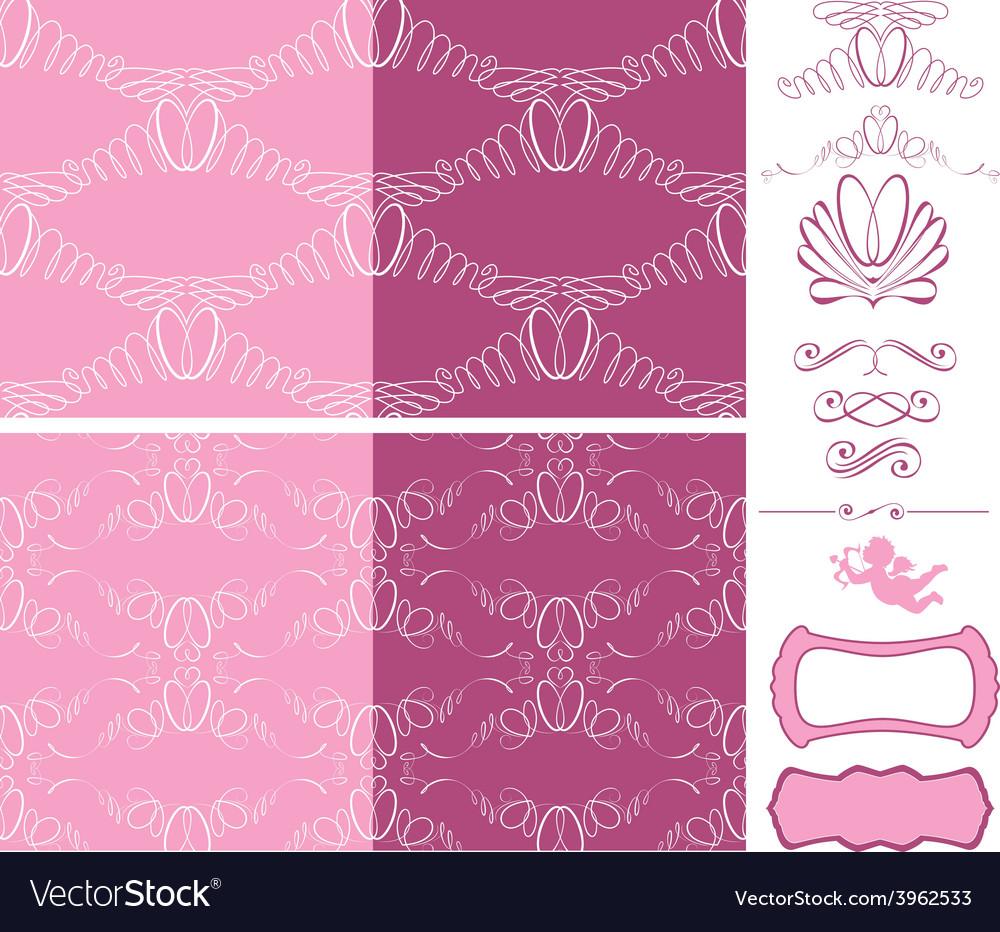 Wedding seamless 1 380 vector | Price: 1 Credit (USD $1)