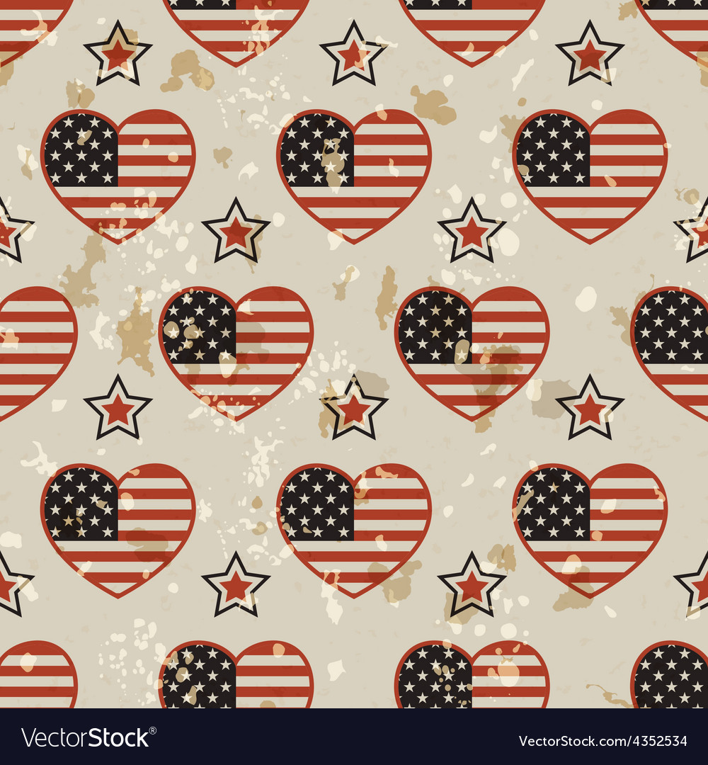 American vintage seamless pattern vector | Price: 1 Credit (USD $1)