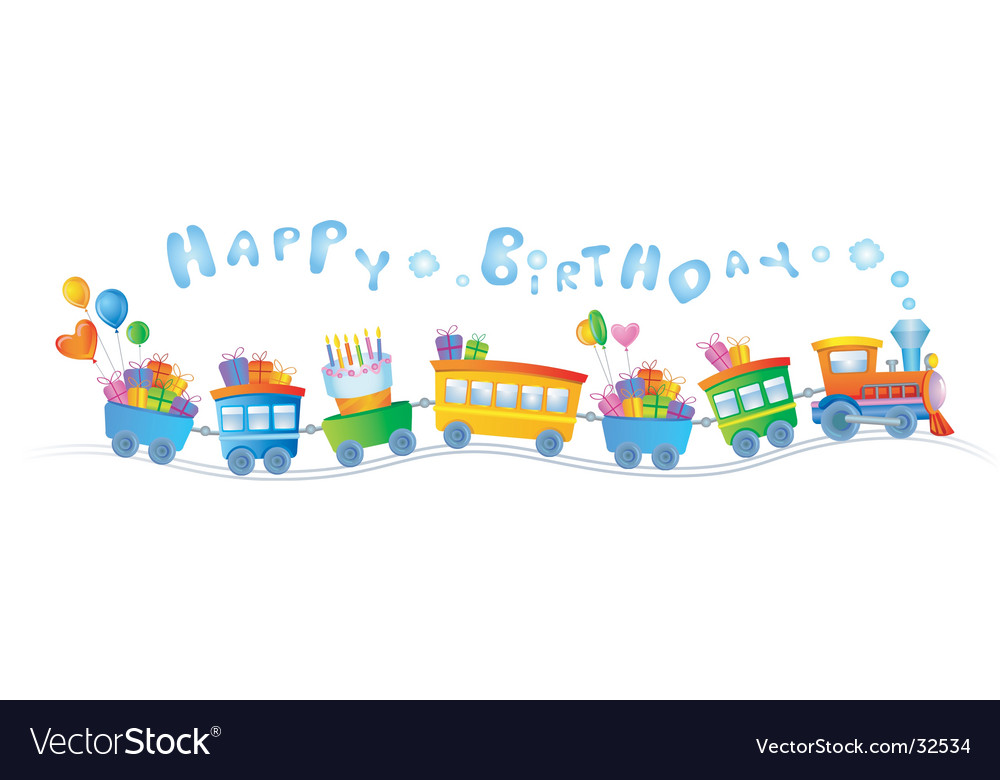 Birthday train vector | Price: 1 Credit (USD $1)