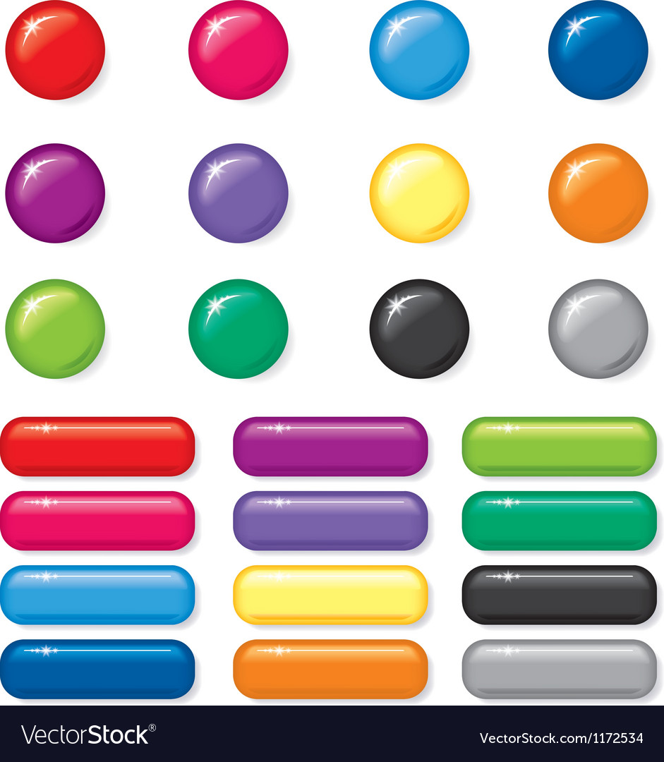 Button set vector | Price: 1 Credit (USD $1)