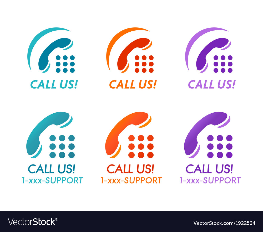 Call us buttons vector | Price: 1 Credit (USD $1)