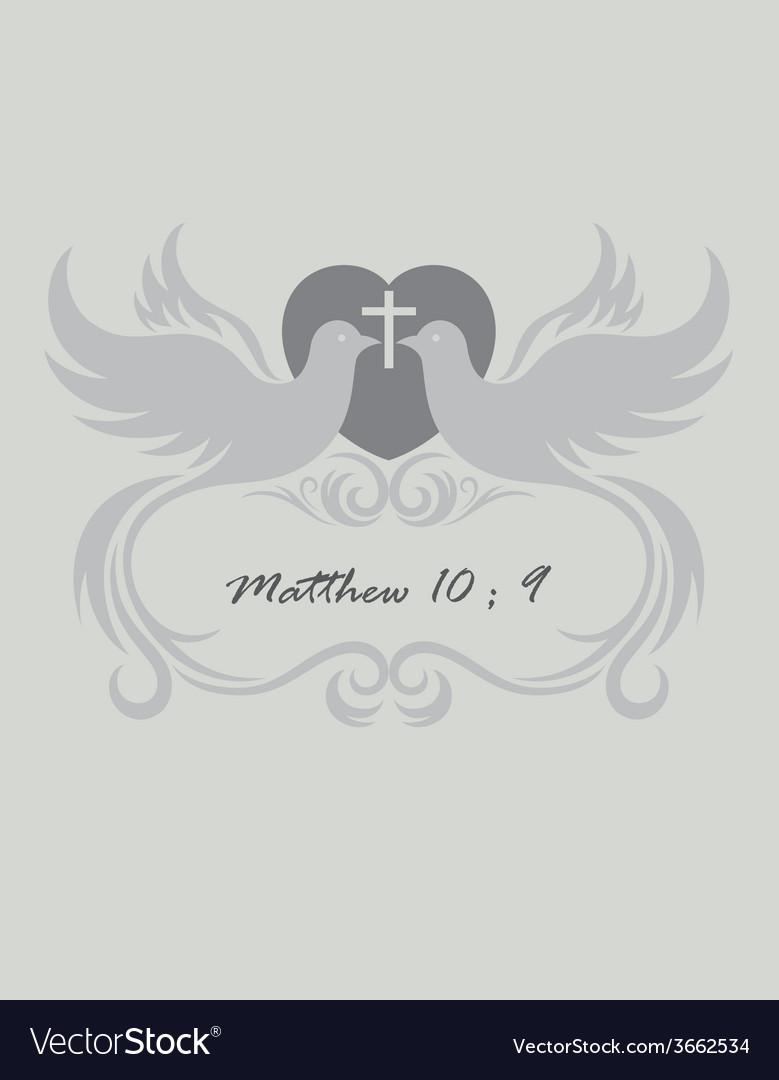 Christian invitation vector