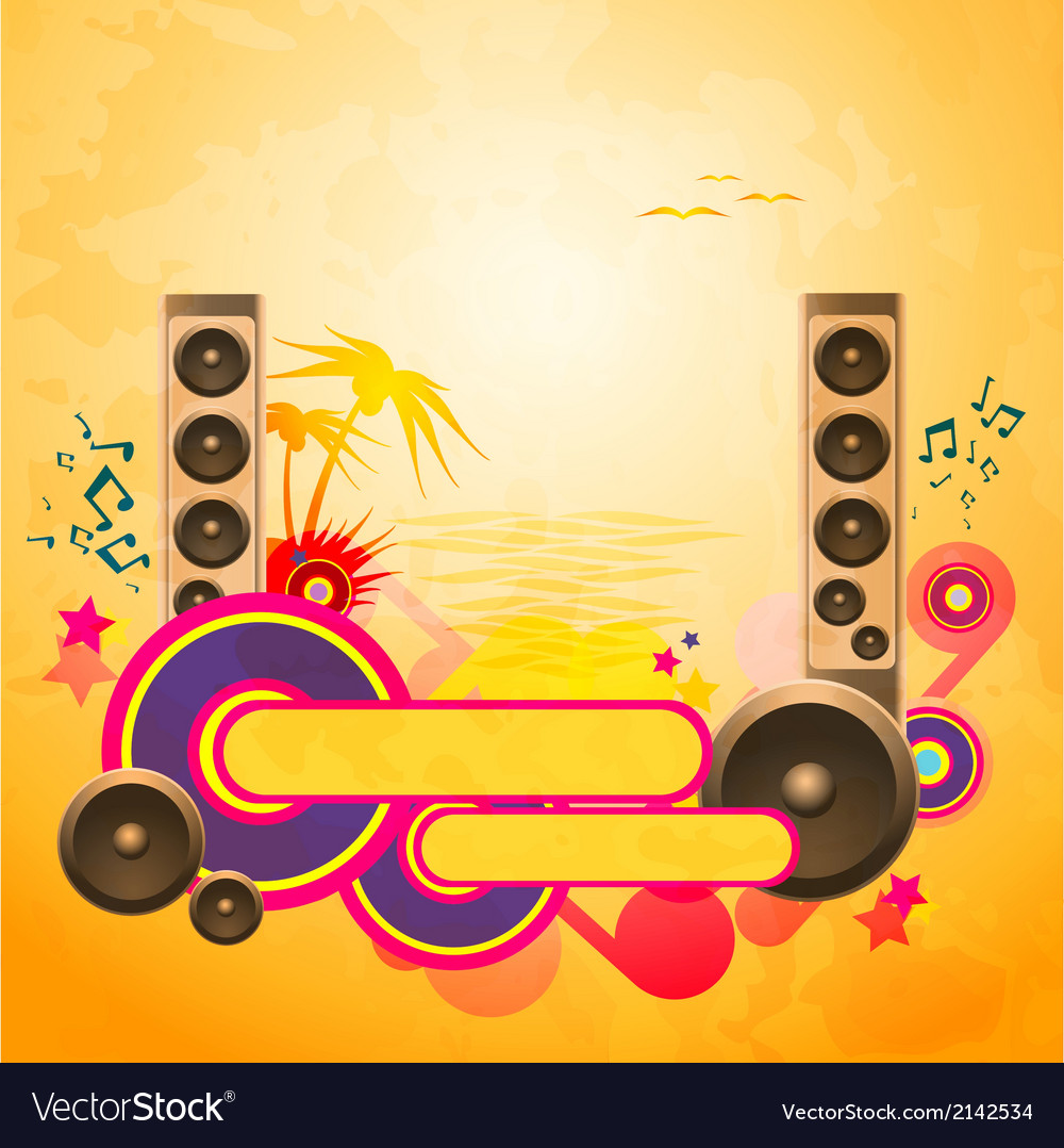 Disco dance tropical music background vector | Price: 1 Credit (USD $1)