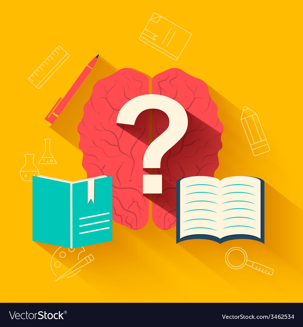 Flat education training background concept d vector | Price: 1 Credit (USD $1)