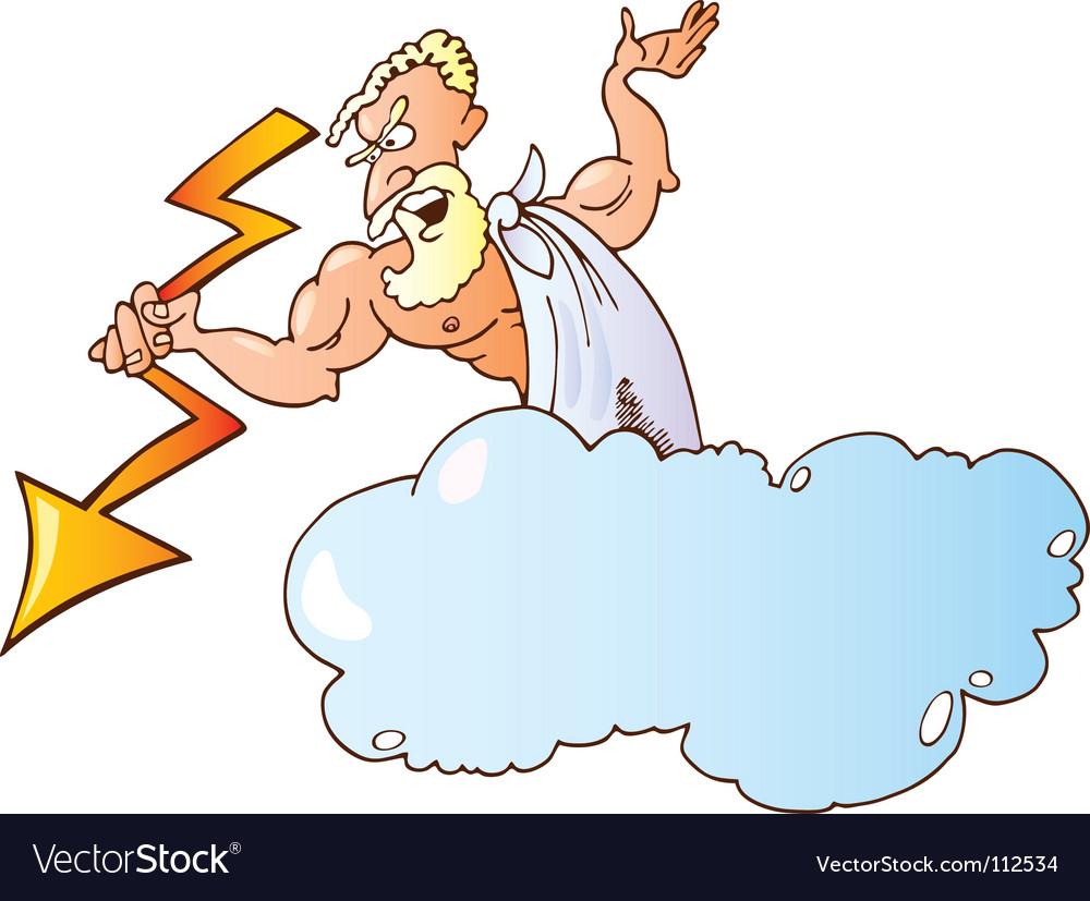 Greek god zeus vector | Price: 1 Credit (USD $1)