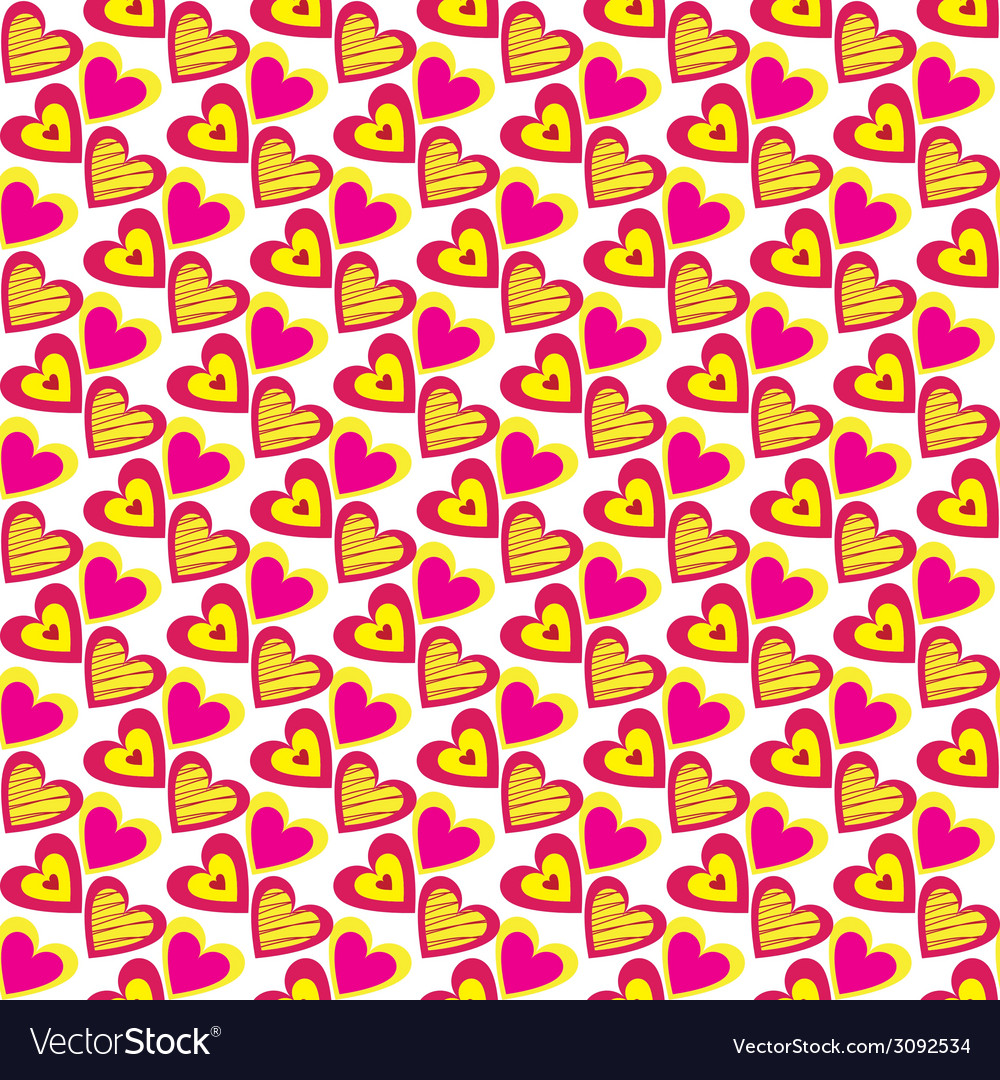 Heart pattern background vector   Price: 1 Credit (USD $1)