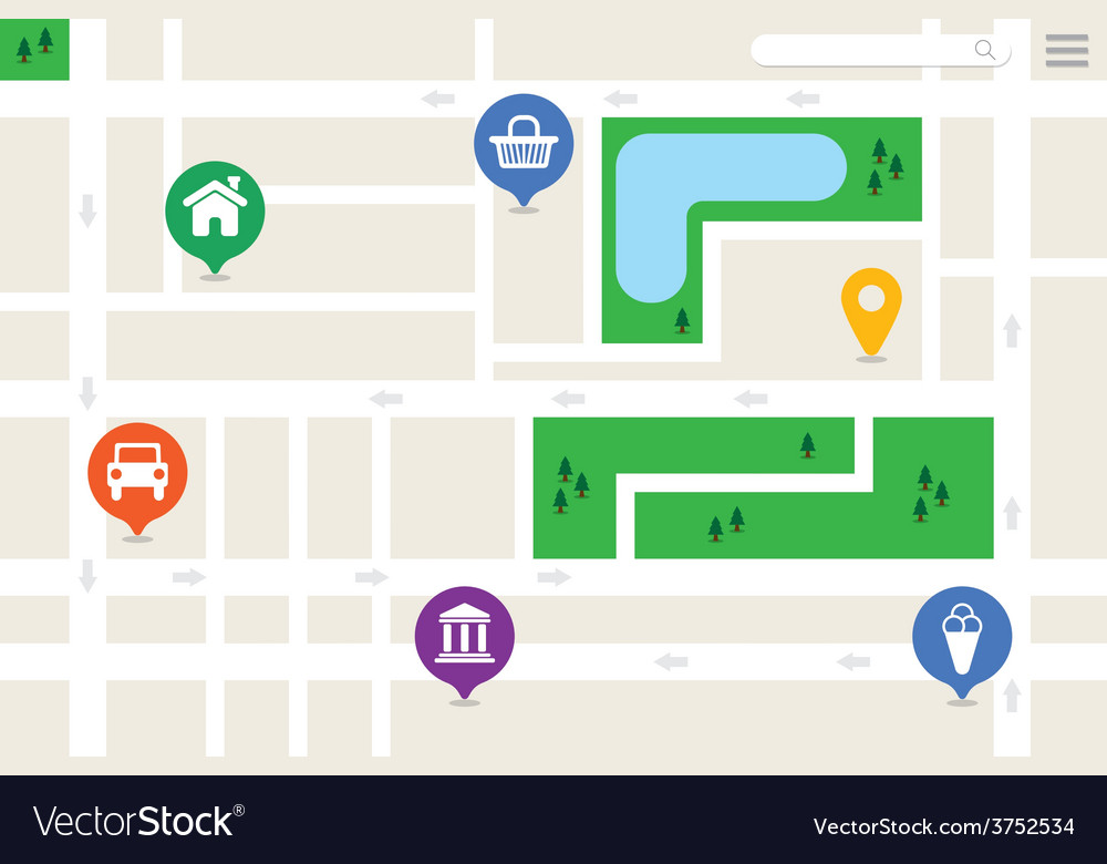 Imaginary city map vector | Price: 1 Credit (USD $1)