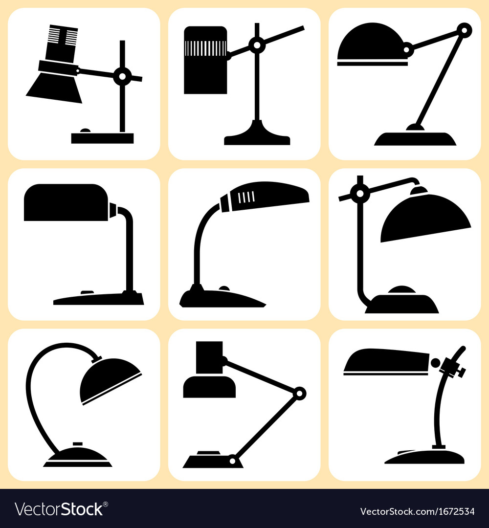 Lamps set vector | Price: 1 Credit (USD $1)