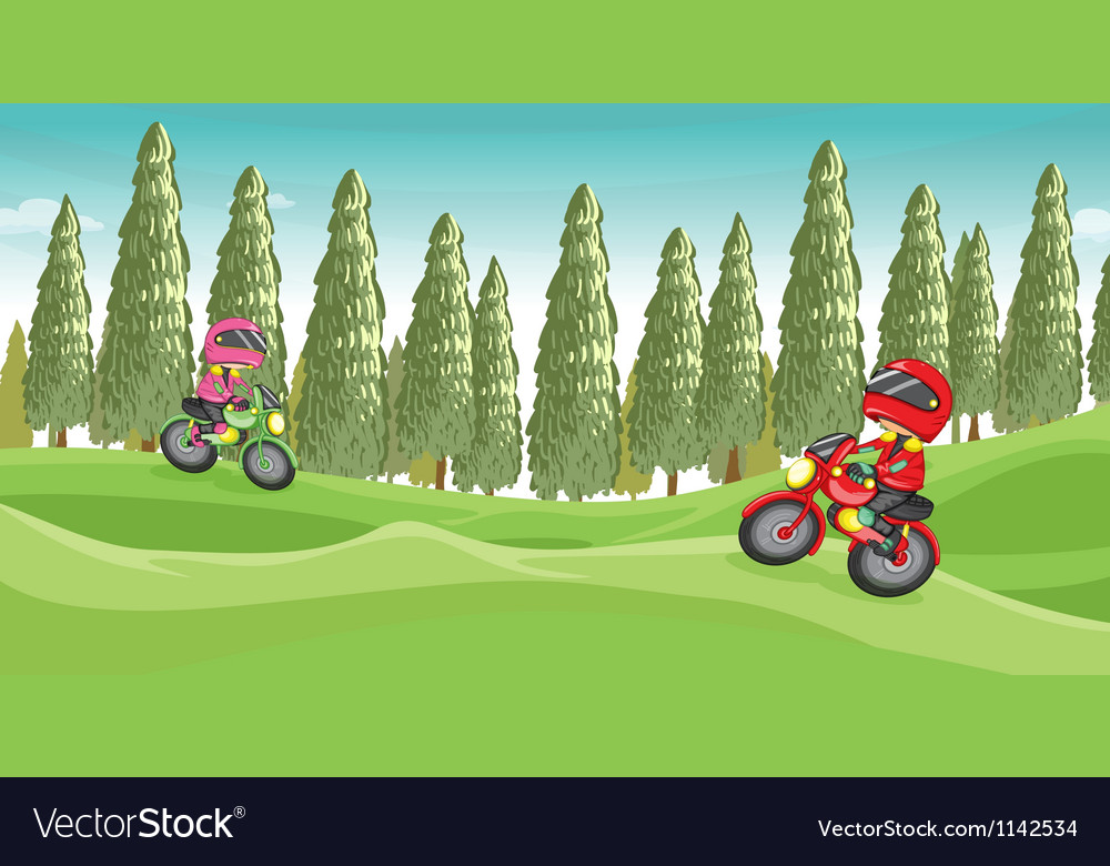 Motorcycle race vector | Price: 1 Credit (USD $1)