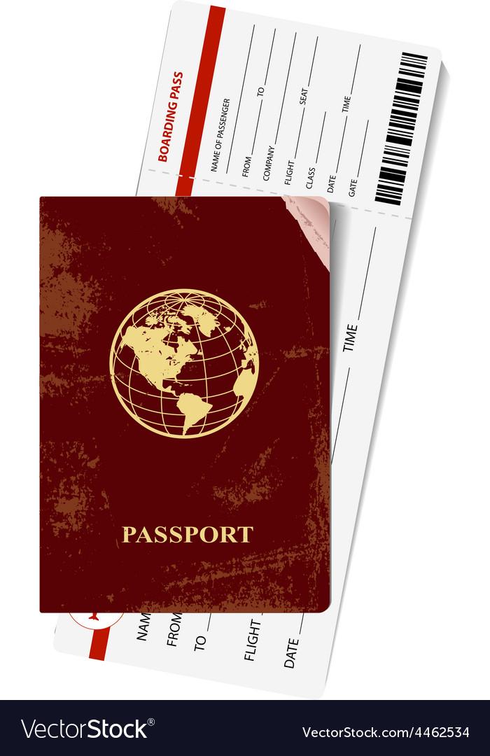 Passport and ticket vector   Price: 1 Credit (USD $1)