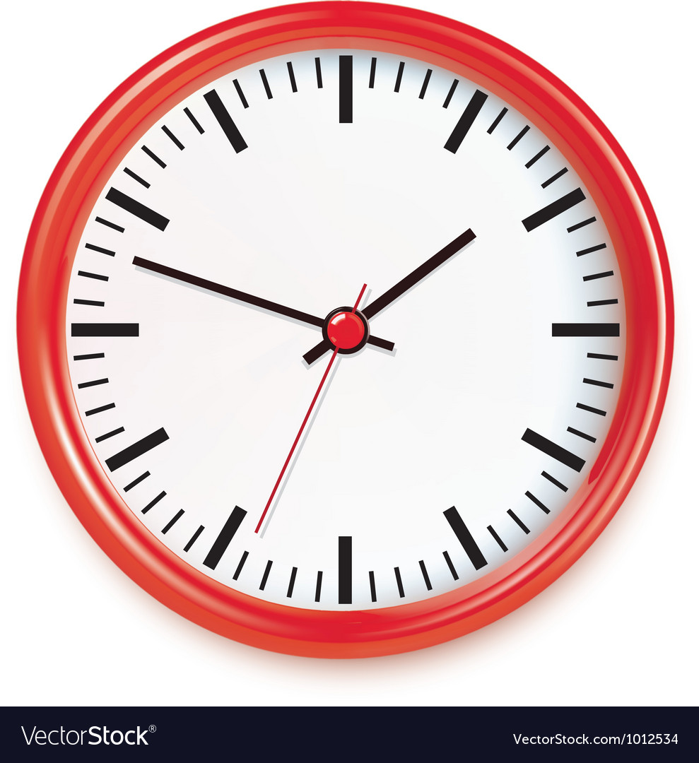 Red wall clocks vector | Price: 1 Credit (USD $1)