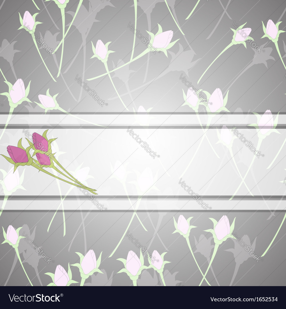 Roses and white ribbon vector | Price: 1 Credit (USD $1)