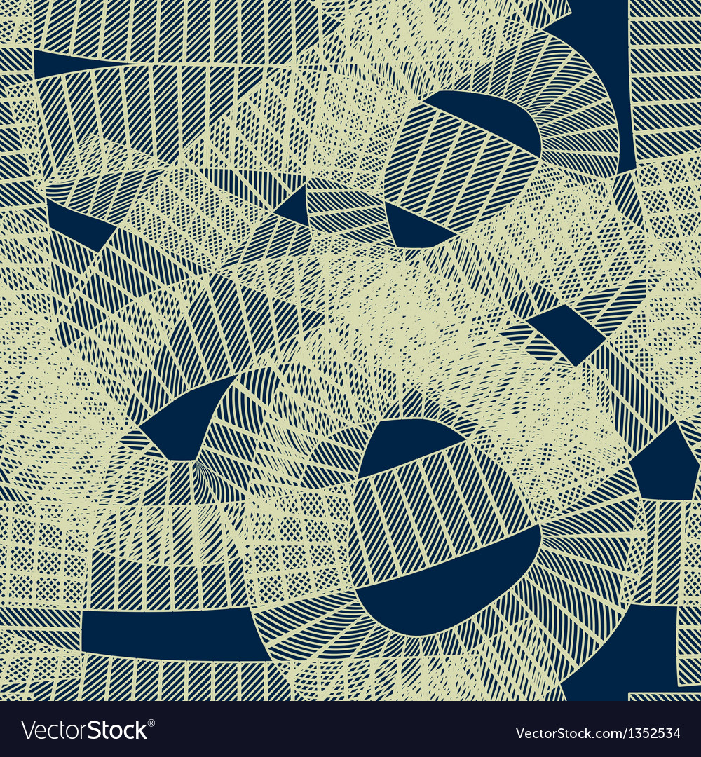 Seamless abstract geometric pattern vector | Price: 1 Credit (USD $1)
