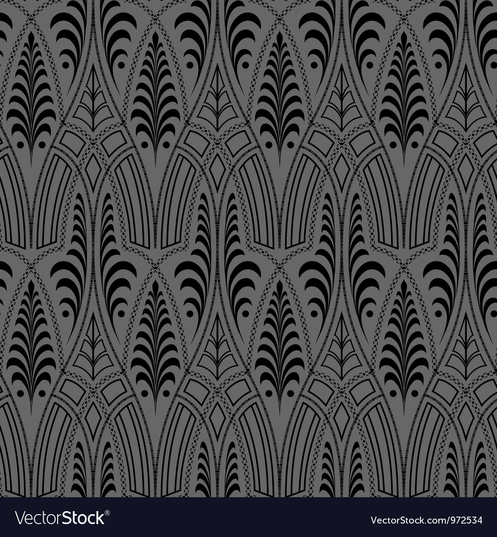 Seamless black wallpaper pattern vector | Price: 1 Credit (USD $1)