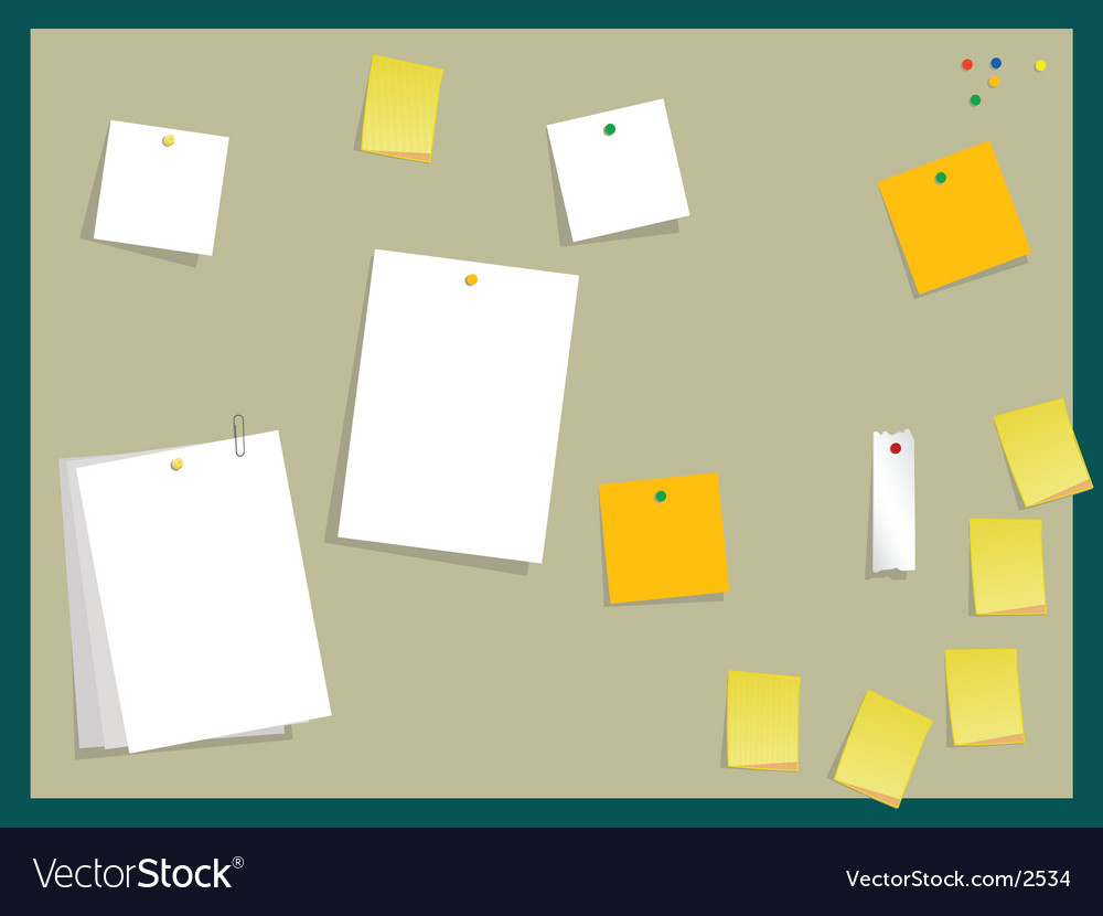 Sticky board vector | Price: 1 Credit (USD $1)