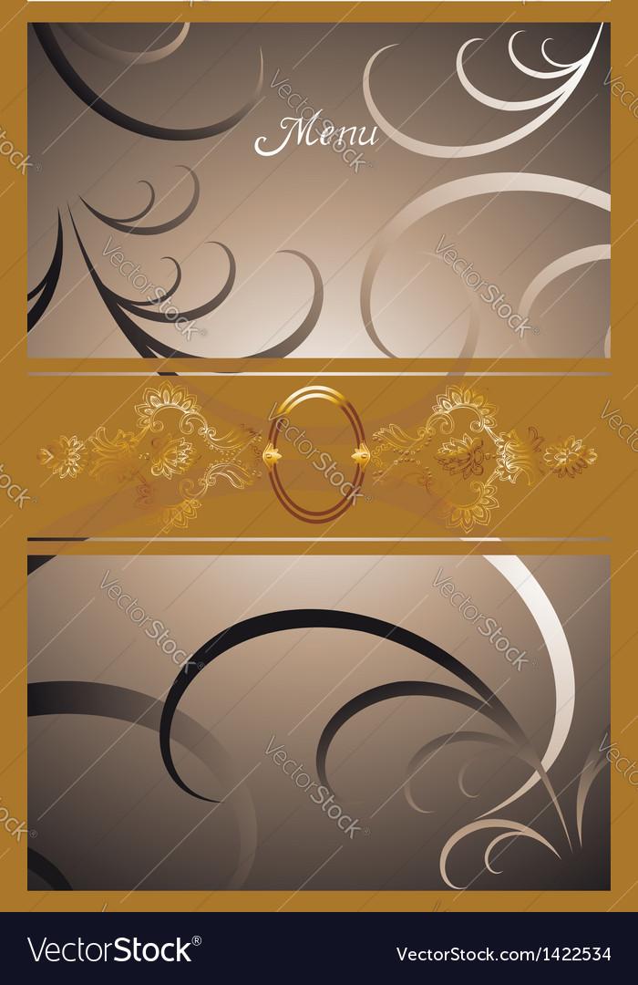 Victorian menu cover design vector   Price: 1 Credit (USD $1)