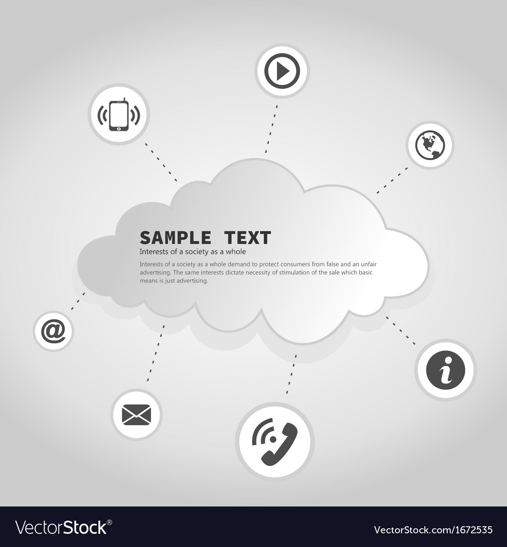Business a cloud2 vector | Price: 1 Credit (USD $1)