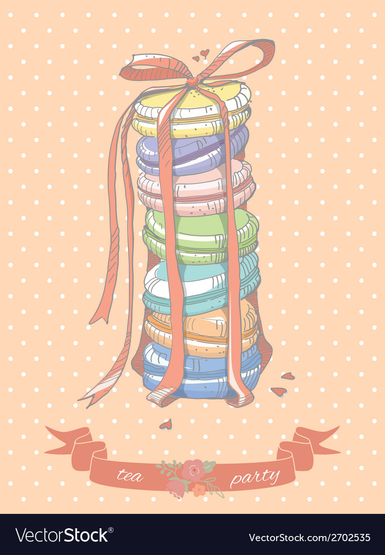 Colorful stack of macaroons vector | Price: 1 Credit (USD $1)
