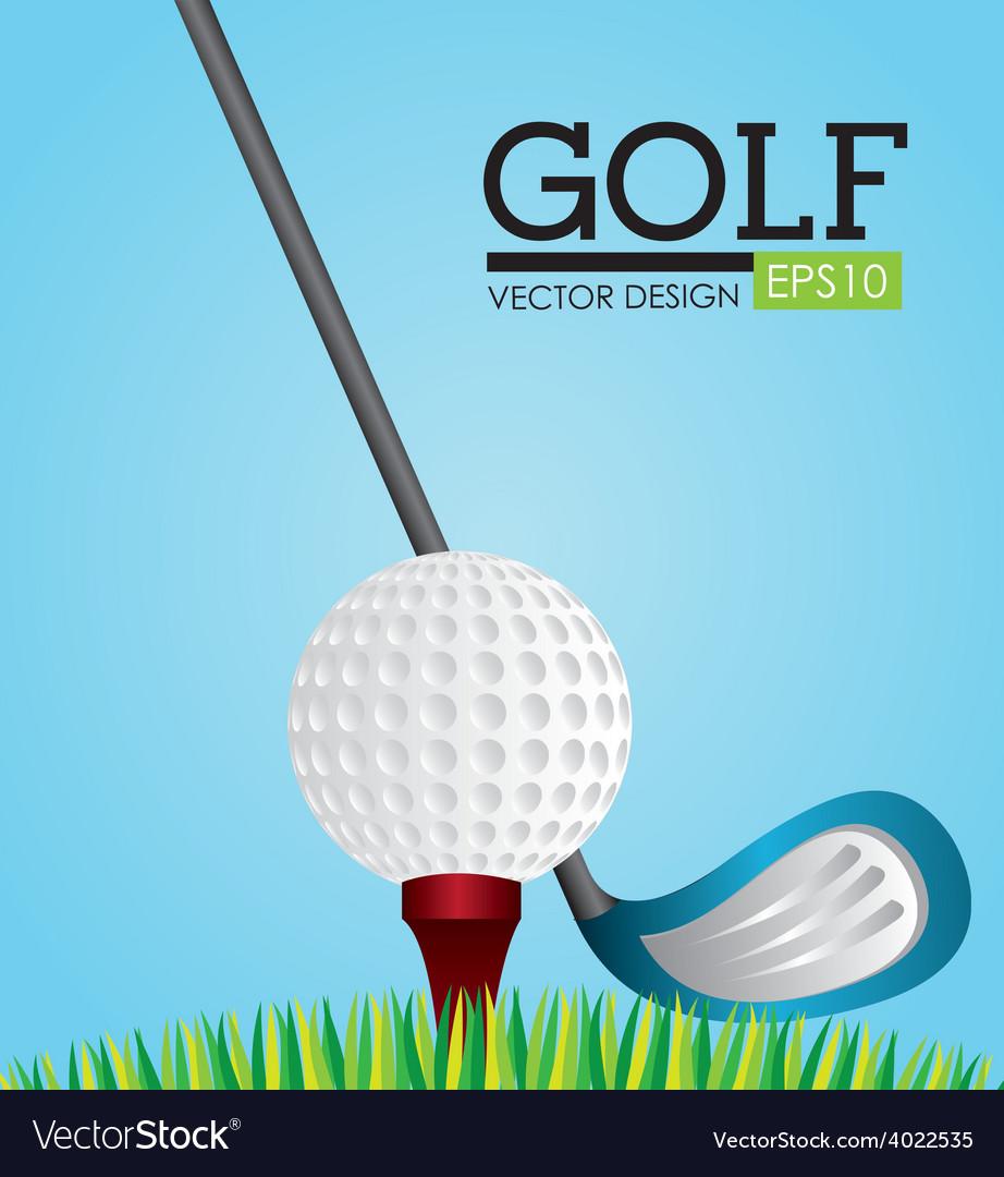 Golf design vector | Price: 1 Credit (USD $1)