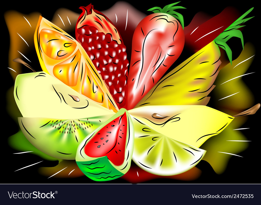 Mix fruit vector | Price: 1 Credit (USD $1)