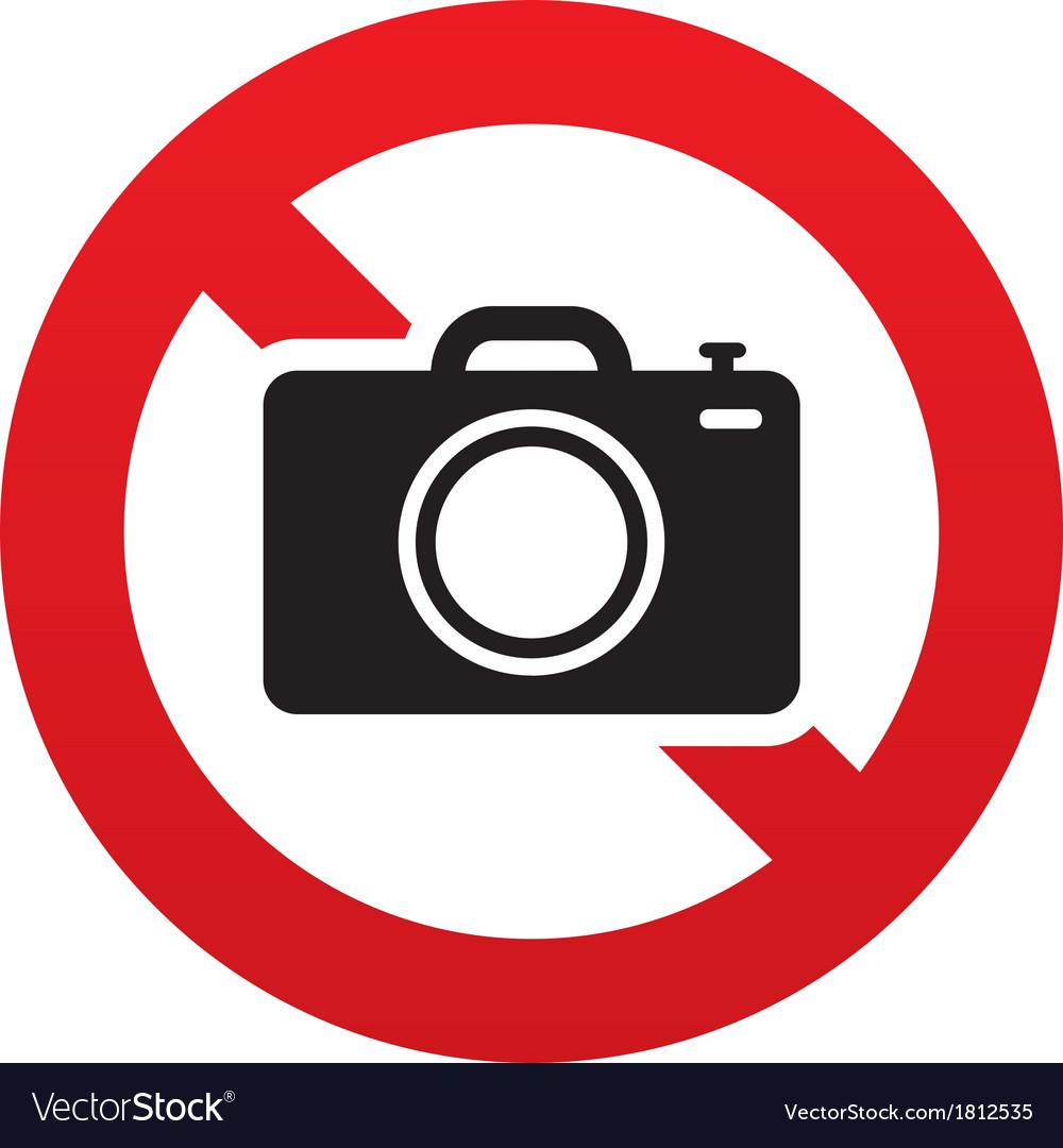 No photo camera sign digital photo camera symbol vector | Price: 1 Credit (USD $1)